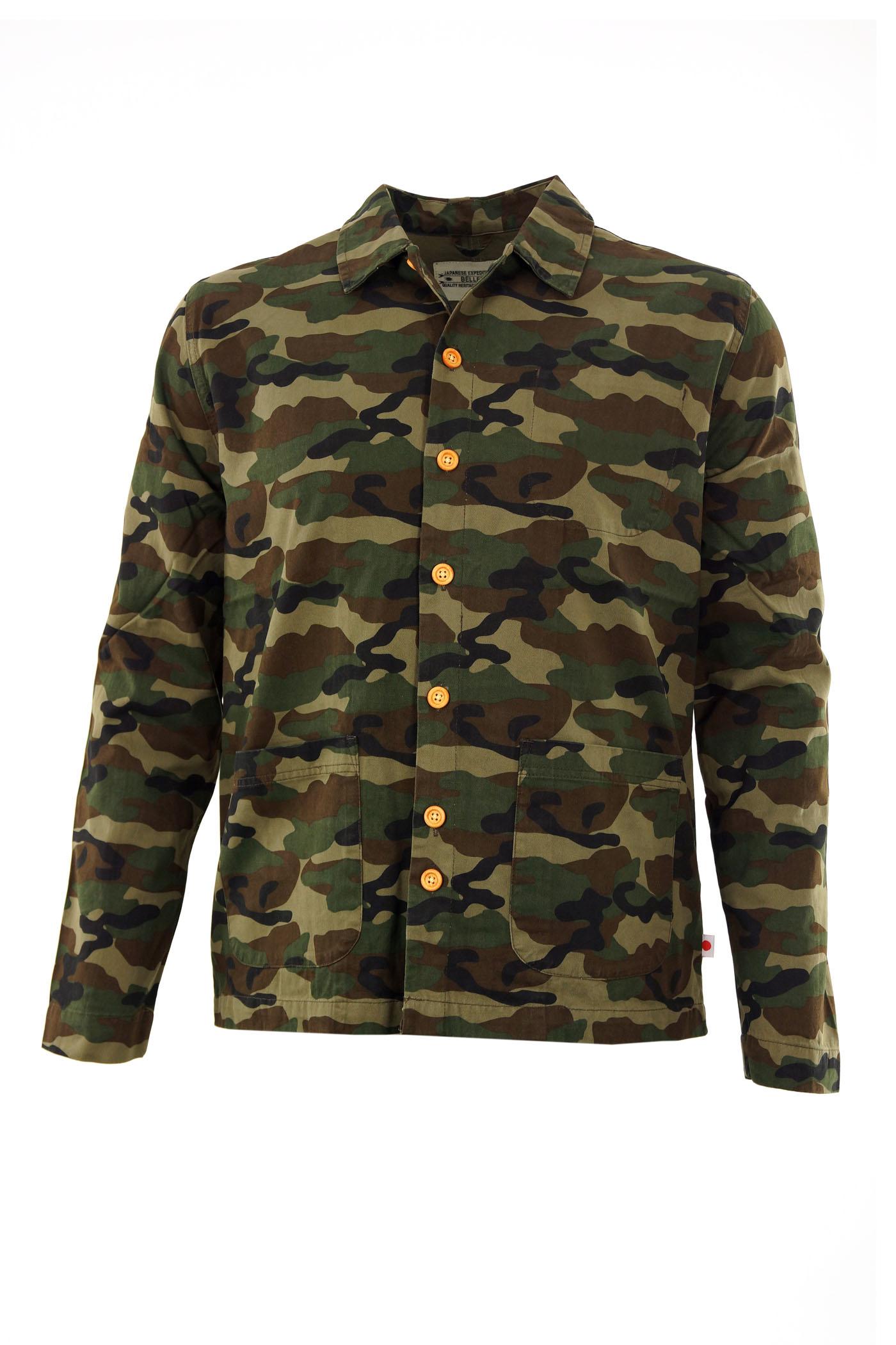 bellfield herren jacke camouflage gr n braun gr l ebay. Black Bedroom Furniture Sets. Home Design Ideas