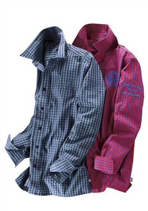 grey connection hemd karohemd rot blau kariert gr 37 38. Black Bedroom Furniture Sets. Home Design Ideas