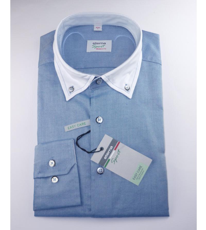 eterna redline hemd modern fit blau kragen wei gr 43 44. Black Bedroom Furniture Sets. Home Design Ideas