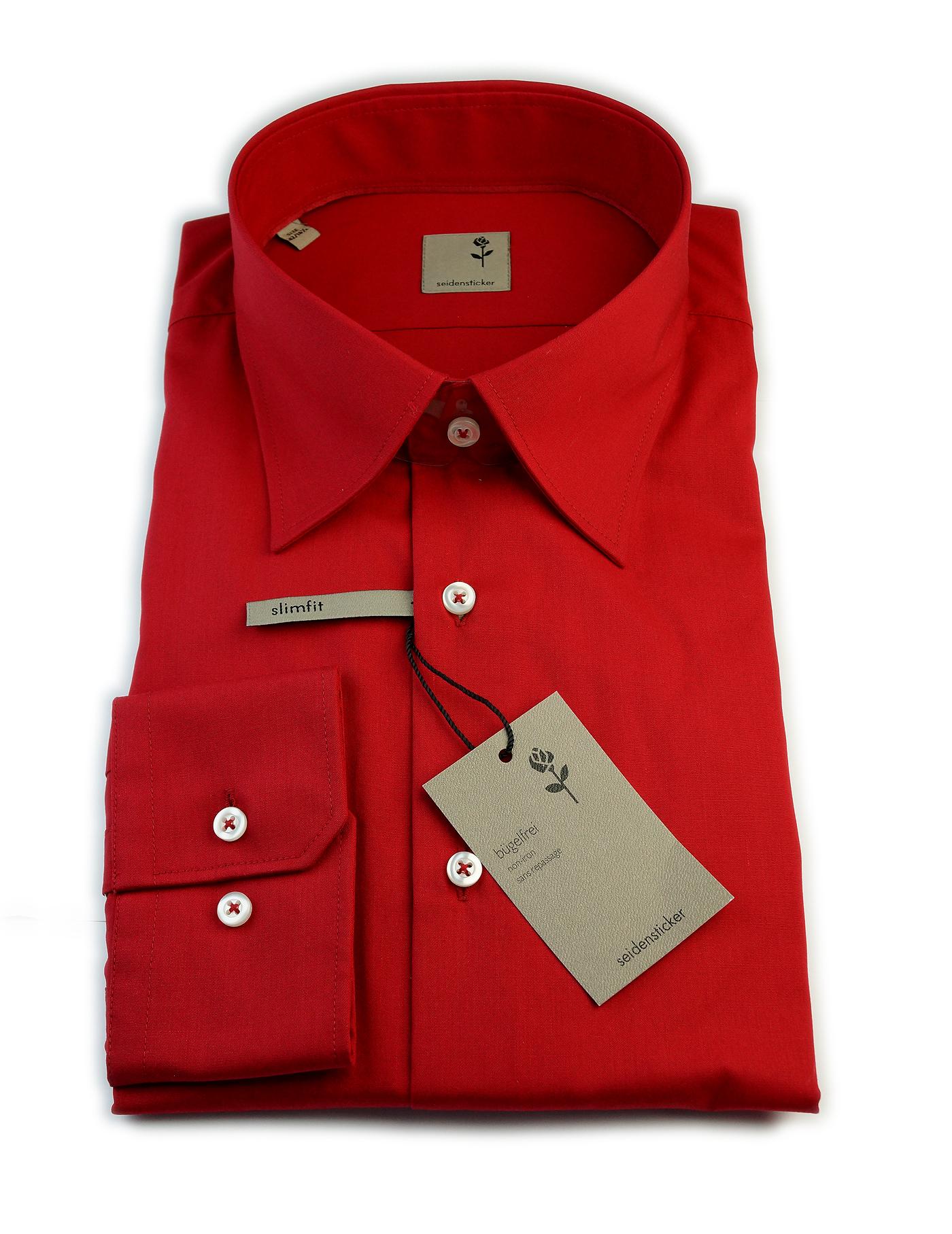 seidensticker hemd schwarze rose rot burned orange gr 38 44 neu 227130 ebay. Black Bedroom Furniture Sets. Home Design Ideas