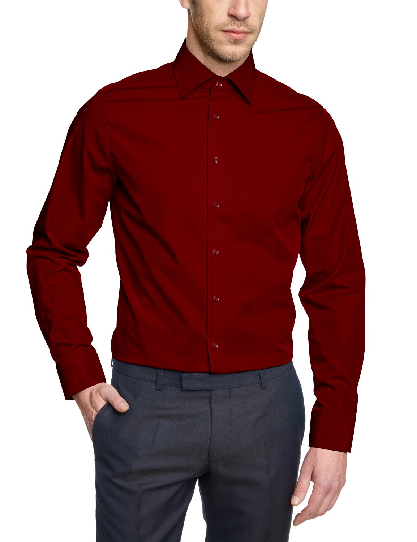 seidensticker hemd schwarze rose slim fit rot gr 38 46 ebay. Black Bedroom Furniture Sets. Home Design Ideas
