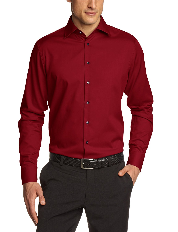 seidensticker herren hemd schwarze rose slim fit rot gr 38 44 ebay. Black Bedroom Furniture Sets. Home Design Ideas